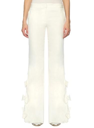 Alexis Paçaları Bağlamalı Pantolon Beyaz